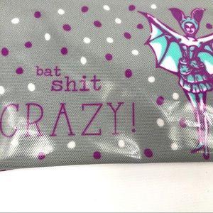 Handbags - Bat Shit Crazy coin or cosmetics case